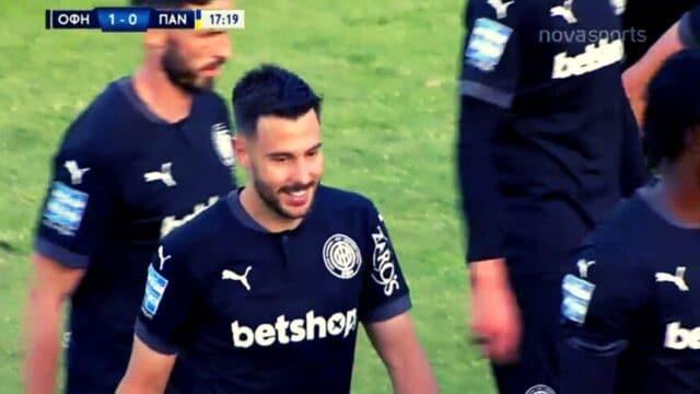 ΟΦΗ – Παναιτωλικός: Στο 1-0 χάθηκε η μπάλα με το γκολ του Σαρδινέρο! (VID)