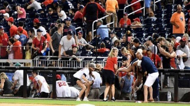 Ουάσιγκτον: Διακόπηκε αγώνας μπέιζμπολ μετά από πυροβολισμούς (vid)