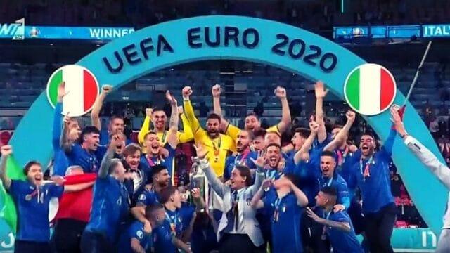 EURO 2020: Χαμός στην απονομή! Τρελά πανηγύρια οι Ιταλοί – Μες τα νεύρα οι Άγγλοι! (Vids)