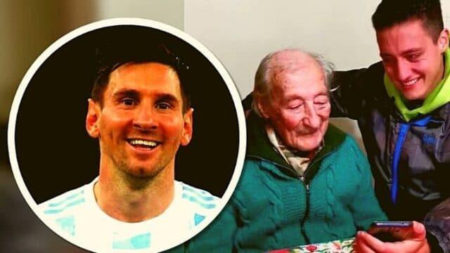 Συγκινητικός Μέσι: Η ιδιαίτερη έκπληξη γενεθλίων σε παππού 100 χρονών! (vid)