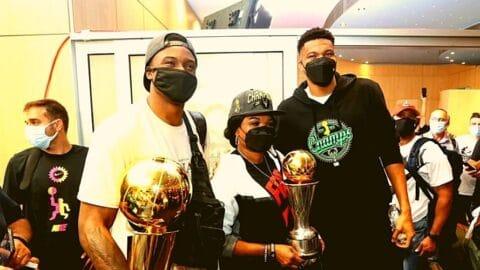 Στην Αθήνα με το κύπελλο του NBA ο Γιάννης!
