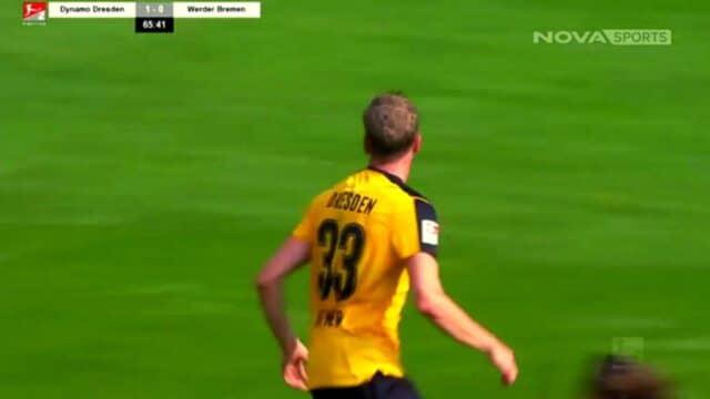 Bundesliga:  Ντινάμο Δρέσδης – Βέρντερ Βρέμης 3-0 (Στιγμιότυπα)
