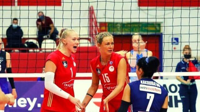 Βόλεϊ (Γ):  Ολυμπιακός – Μινσκ 3-2  Champions League (Vid)